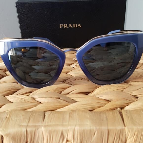 20f2bda323e0 PRADA blue gradient Cat Eye sunglasses. Listing Price   100